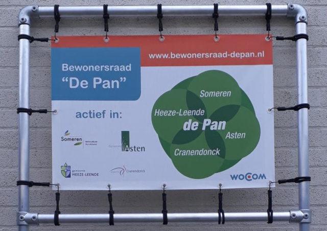 Promotiemateriaal voor Bewonersraad de Pan