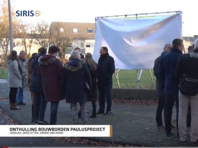 Onthulling bouwborden Paulusproject